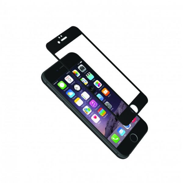 Cygnett AeroCurve Tempered Glass Aluminium Border iPhone 6 Plus - Black Black, Clear