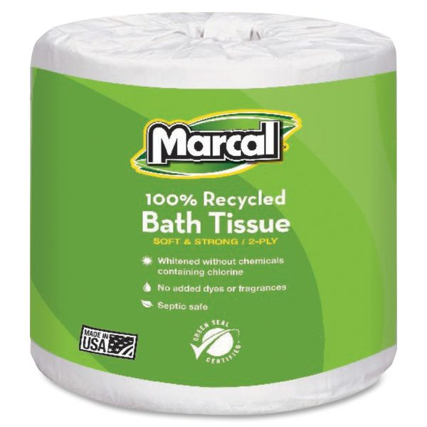 Marcal Small Steps Recycled Embossed 2 Ply Toilet Paper