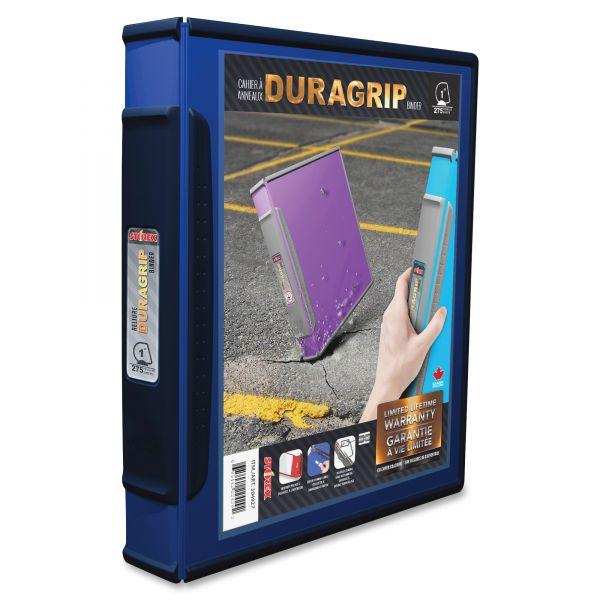 """Storex DuraGrip Binders, 1"""" Capacity, Blue"""