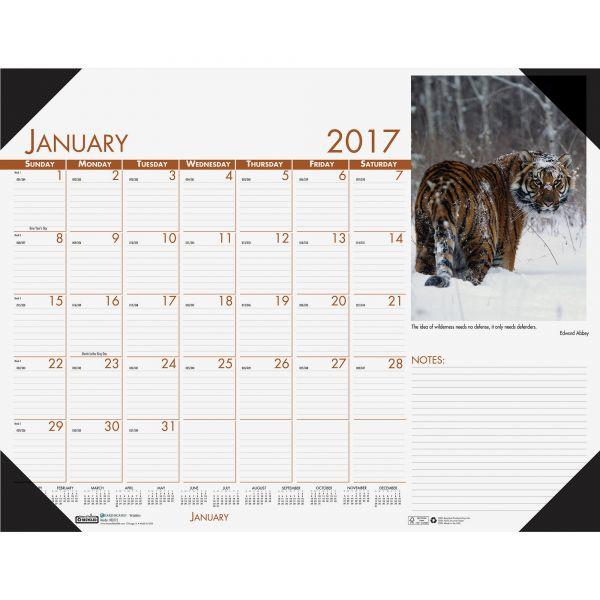 House of Doolittle Beautiful Wildlife Photographic Monthly Desk Pad Calendar