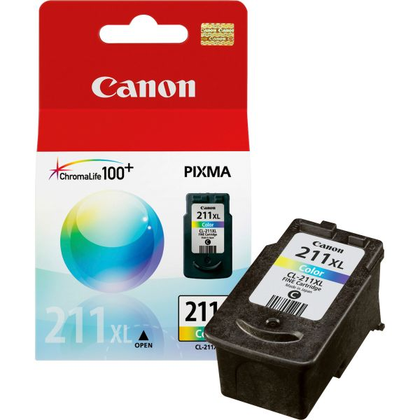 Canon CL-211XL Color High Yield Ink Cartridge (2975B001)