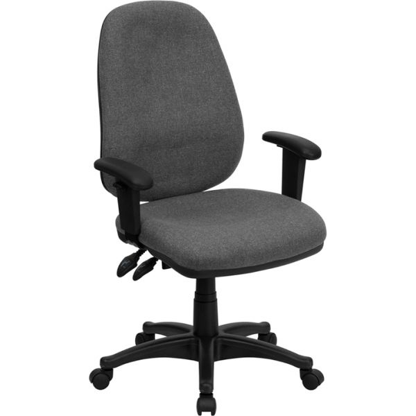 Flash Furniture High Back Executive Ergonomic Swivel Office Chair [BT-661-GR-GG]