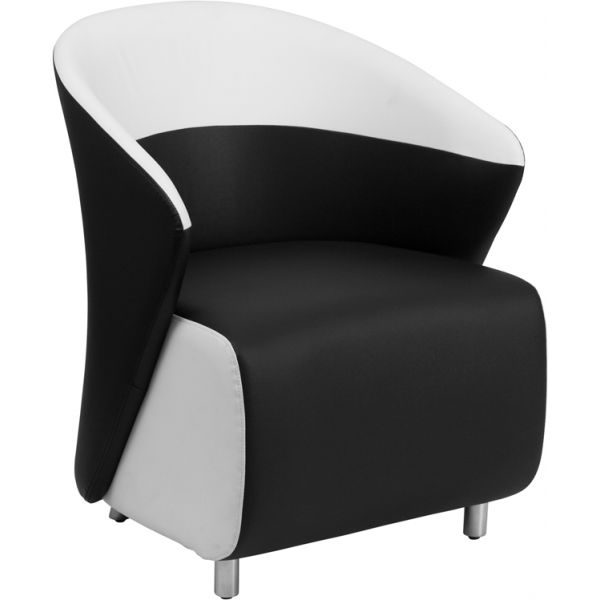 Flash Furniture Black Leather Reception Chair