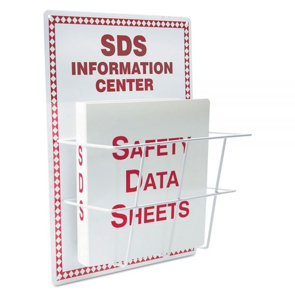 LabelMaster SDS Information Center, 15 x 20, White/Red