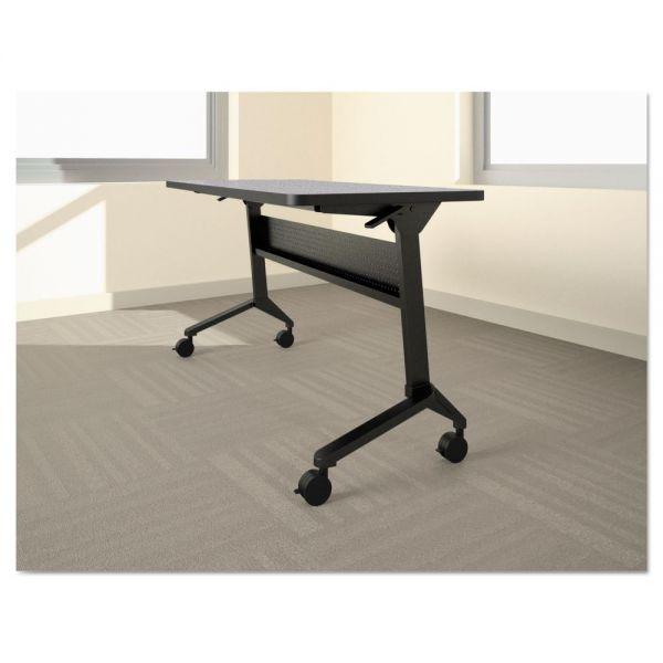 Safco Mayline Flip-n-Go Table Base, 46 7/8w x 21 1/4d x 27 7/8h, Black