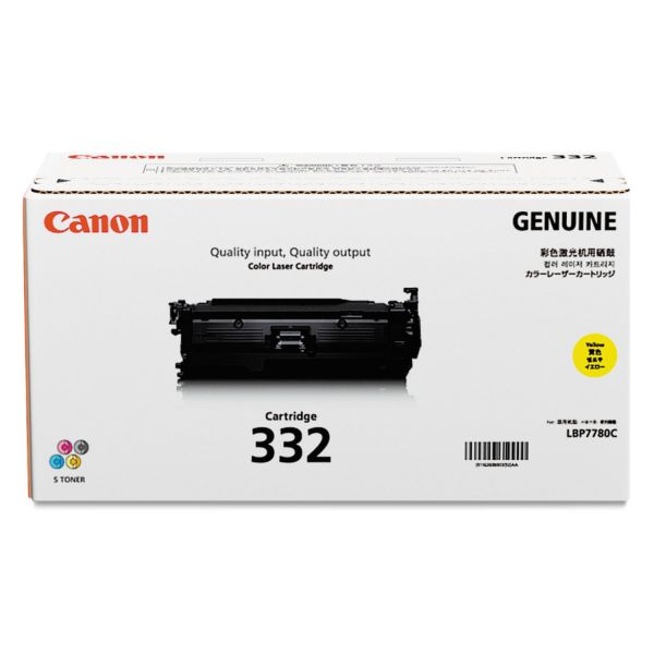 Canon 332 Yellow Toner Cartridge (6260B012)