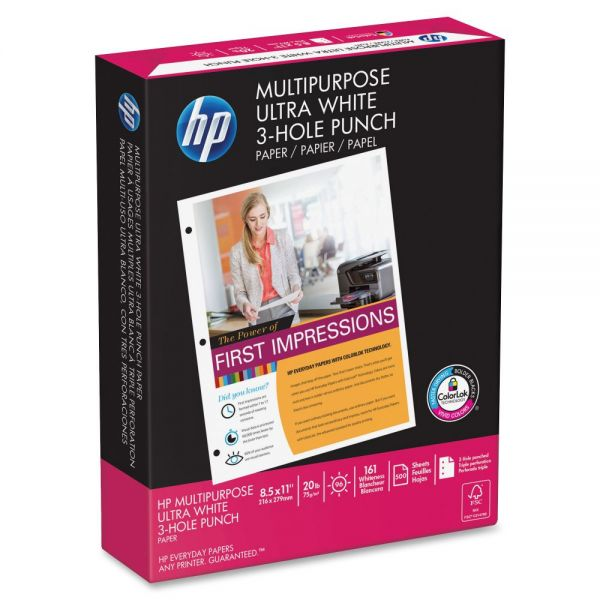 HP Three Hole-Punched Multi-Purpose White Copy Paper