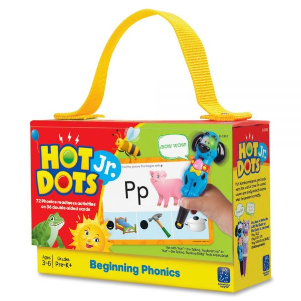 Hot Dots Jr. Card Set Beginning Phonics