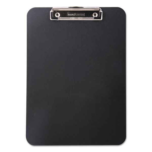 Baumgartens Unbreakable Heavy Duty Recycled Black Plastic Clipboard