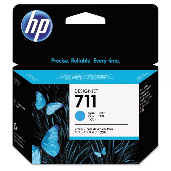 HP 711 Cyan Ink Cartridges (CZ134A)