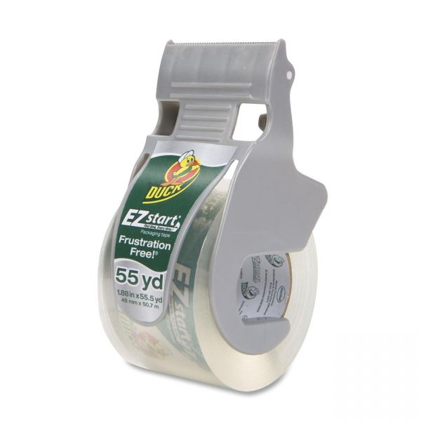 "Duck Brand E-Z Start Premium 2"" Packing Tape with Dispenser"