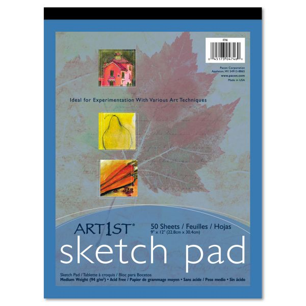 Pacon Art1st Sketch Pad, 60 lbs. Heavyweight Drawing Paper. 9 x 12, 50 Sheets