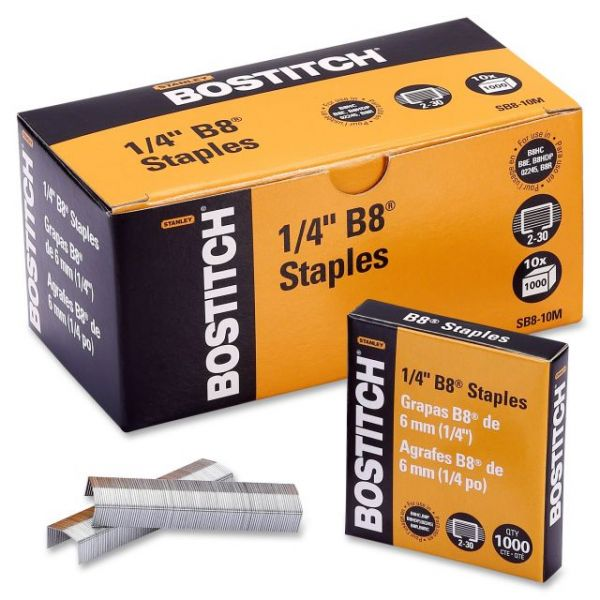 "Stanley-Bostitch B8 PowerCrown 1/4"" Staples"