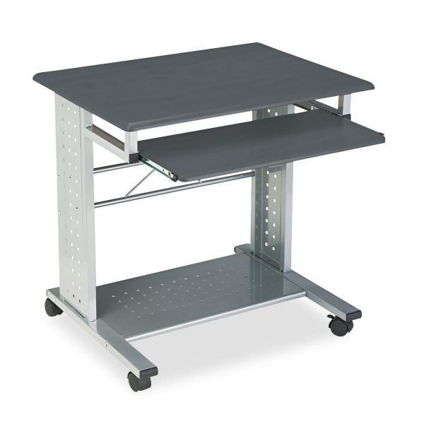 Tiffany Industries Empire Mobile PC Cart With Keyboard Tray, 28-1/2 x 23 x 28-3/4, Metallic Gray