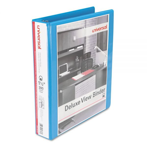 "Universal Deluxe 1 1/2"" 3-Ring View Binder"