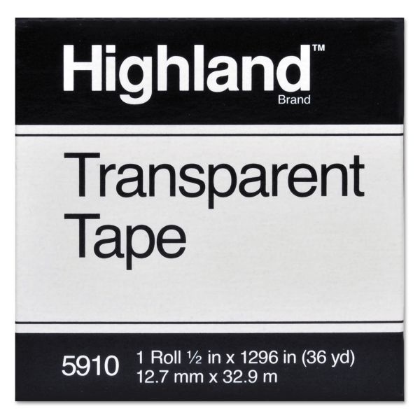 "Highland 1/2"" Transparent Tape Refill"