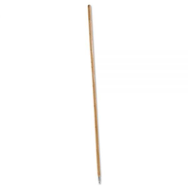 Boardwalk Metal Tip Threaded Hardwood Broom Handle