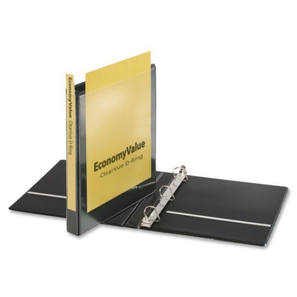 "Cardinal EconomyValue ClearVue 1"" 3-Ring View Binder"
