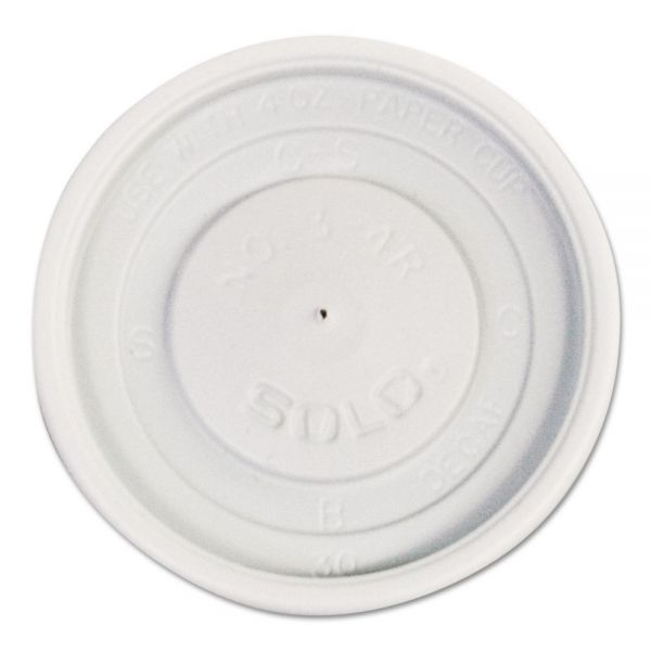 Dart Polystyrene Vented Hot Cup Lids, 4oz Cups, White, 100/Pack, 10 Packs/Carton