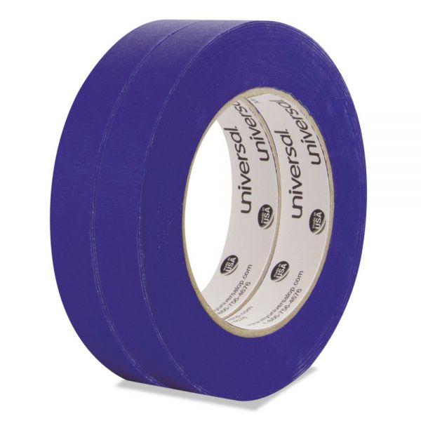 Universal Premium Blue Masking Tape w/Bloc-it Technology, 18mm x 54.8m, Blue, 2/Pack