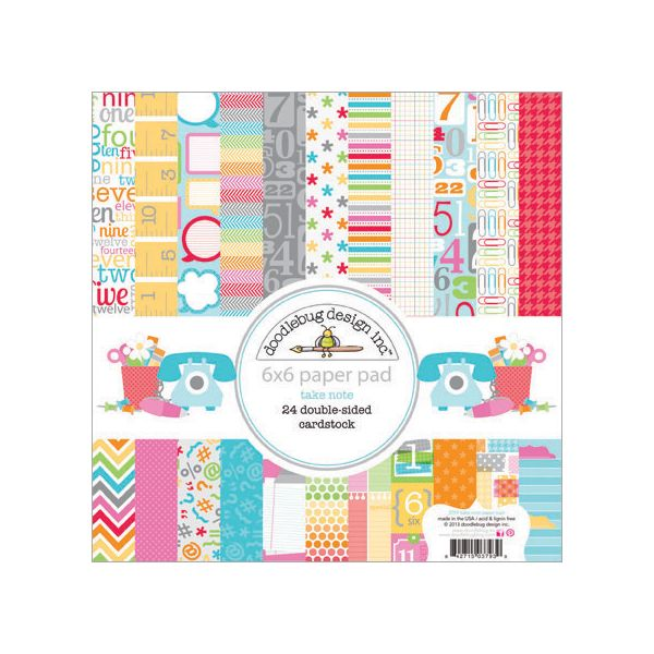 Doodlebug Take Note Paper Pad