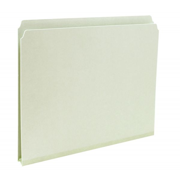 Smead 13200 Gray/Green Pressboard File Folders