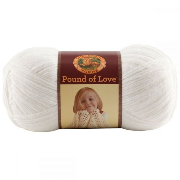 Lion Brand Pound Of Love Yarn - White
