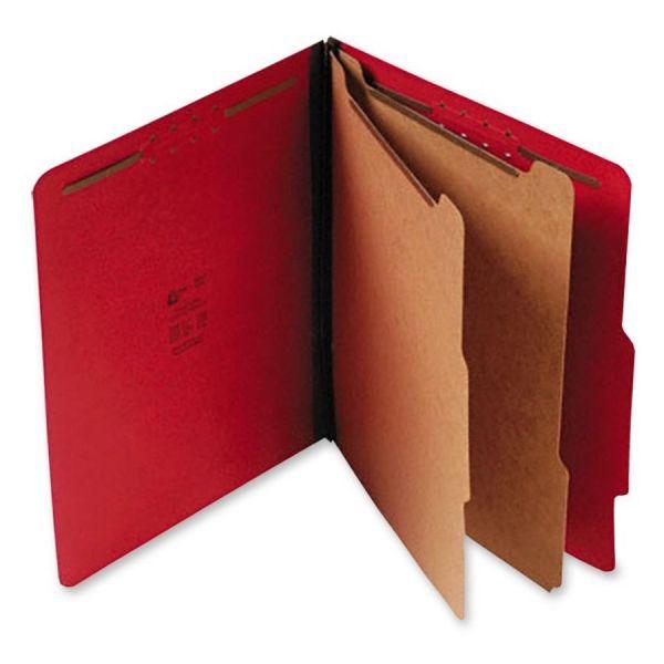 SJ Paper Red Pressboard Classification Folders
