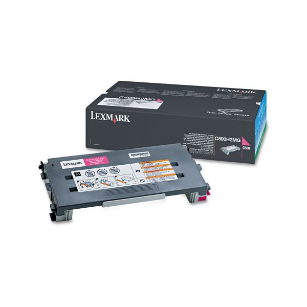 Lexmark C500H2MG Magenta High Yield Toner Cartridge