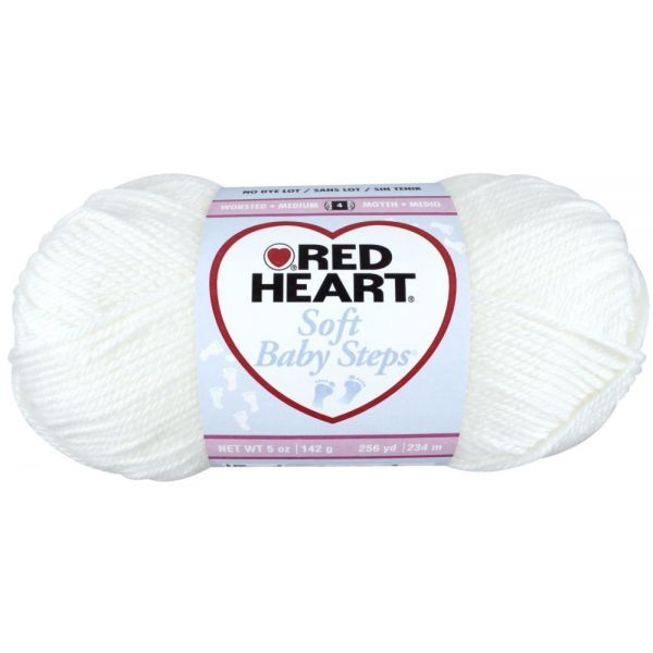 Red Heart Soft Baby Steps Yarn - White