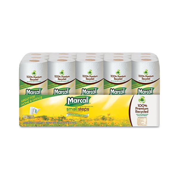 Marcal Small Steps 100% Premium Recycled Paper Towels