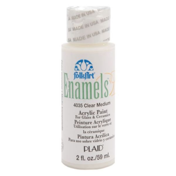 Folk Art Enamels Clear Medium Acrylic Paint