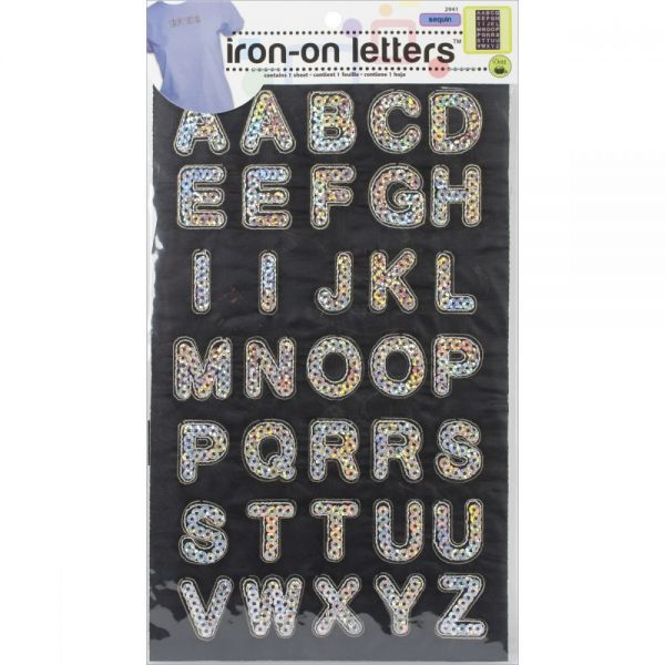 """Iron-On Sequin Letters 1"""" Block"""