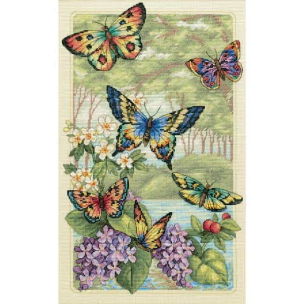 Dimensions Gold Collection Butterfly Forest Counted Cross Stitch Kit