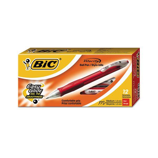 BIC Velocity Retractable Ballpoint Pens