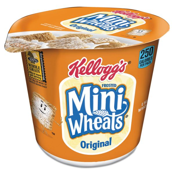 Kellogg's Breakfast Cereal, Frosted Mini Wheats, Single-Serve, 6/Box