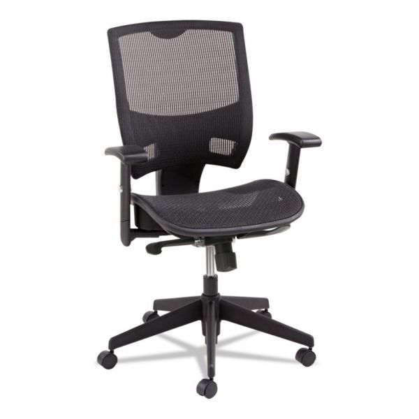 Alera Epoch Series All Mesh Multifunction Mid-Back Office Chair