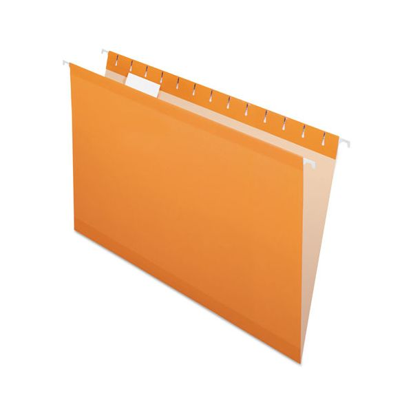 Pendaflex Reinforced Hanging Folders, 1/5 Tab, Legal, Orange, 25/Box