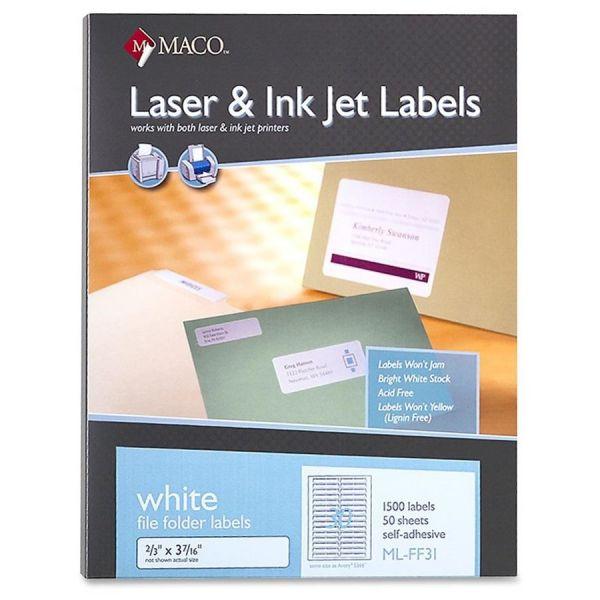 Maco Permanent File Folder Labels