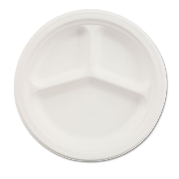 "Chinet 10"" Paper Compartment Plates"