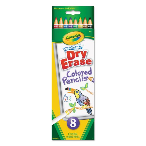 Crayola Dry Erase Washable Colored Pencil Set