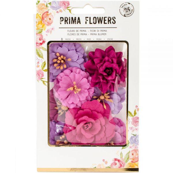 Prima Marketing Paper Flowers 8/Pkg
