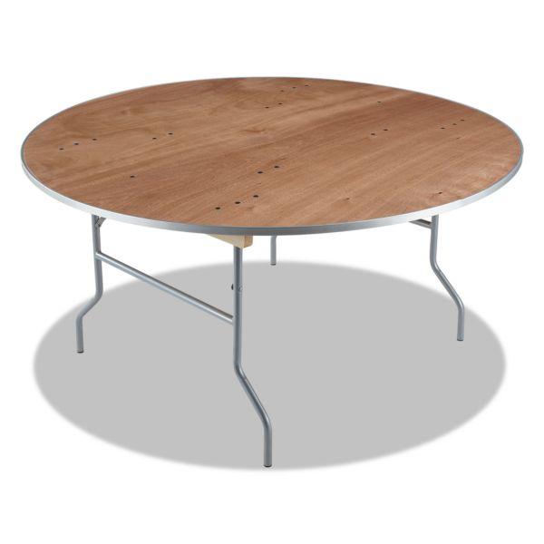 Iceberg Natural Plywood Round Folding Table