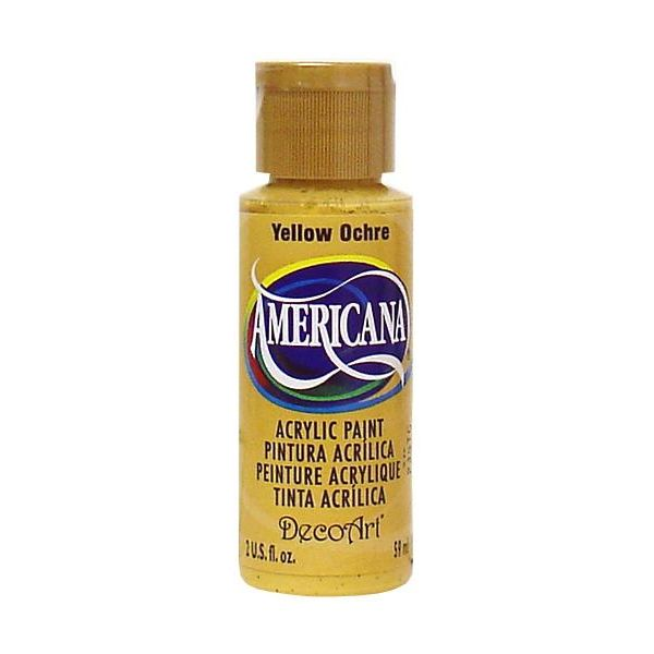 Deco Art Americana Yellow Ochre Acrylic Paint