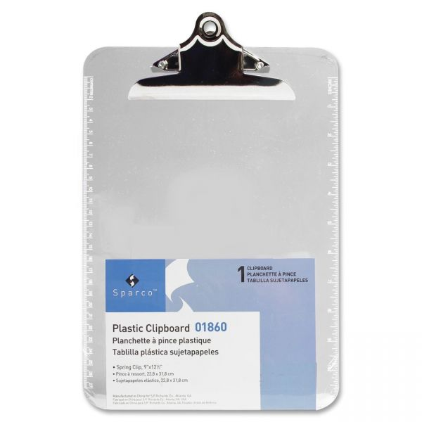 Sparco Plastic Clipboard