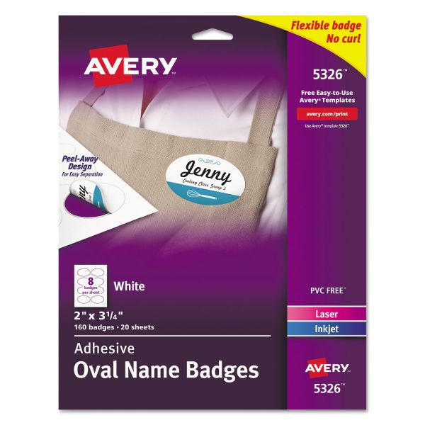 Avery Oval Adhesive Name Tags