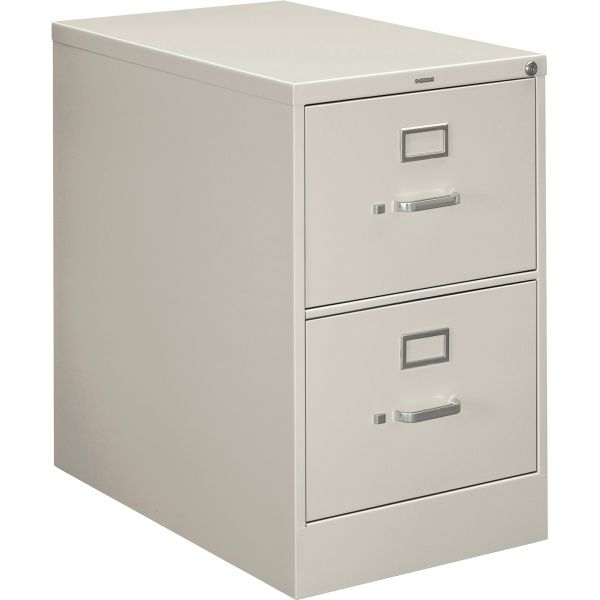 HON 210 Series Two-Drawer, Full-Suspension File, Legal, 28-1/2d, Light Gray