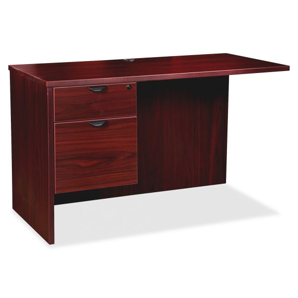 Lorell Prominence 79000 Mahogany Left Pedestal Return