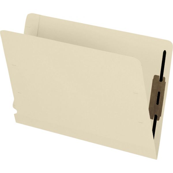 Pendaflex Laminated Spine End Tab Folder with 2 Fastener, 11 pt Manila, Letter, 50/Box