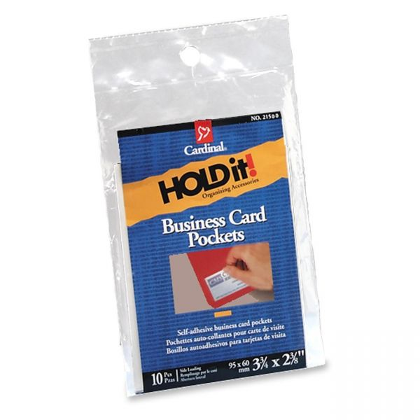 Cardinal HOLDit! Business Card Pockets